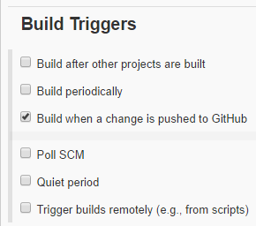 Build Triggers (Jenkins job config)