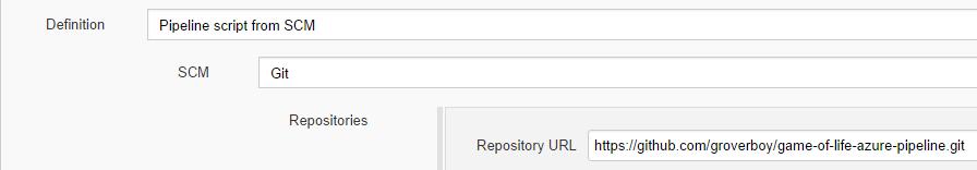 Pipeline repository URL
