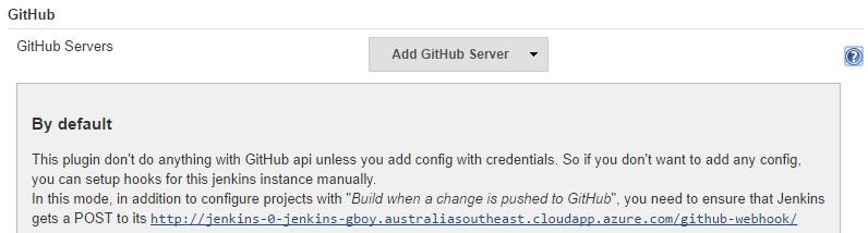 Azure config GitHub