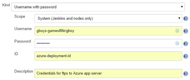 CJE credential: Azure app service deployment